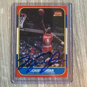 1986 Fleer Michael Jordan Auto Rookie Card #57